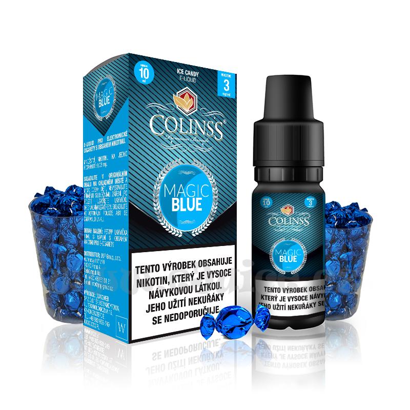 E-liquid Colinss 10ml / 0mg: Magic Blue (Ledové bonbony)