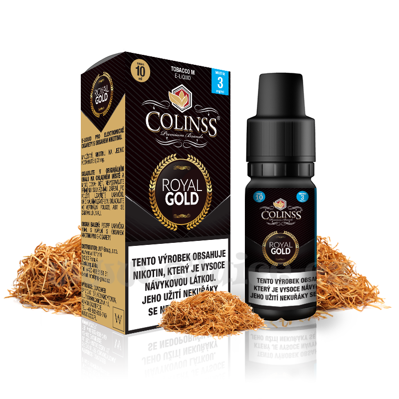E-liquid Colinss 10ml / 12mg: Royal Gold (Tradiční tabáková směs)