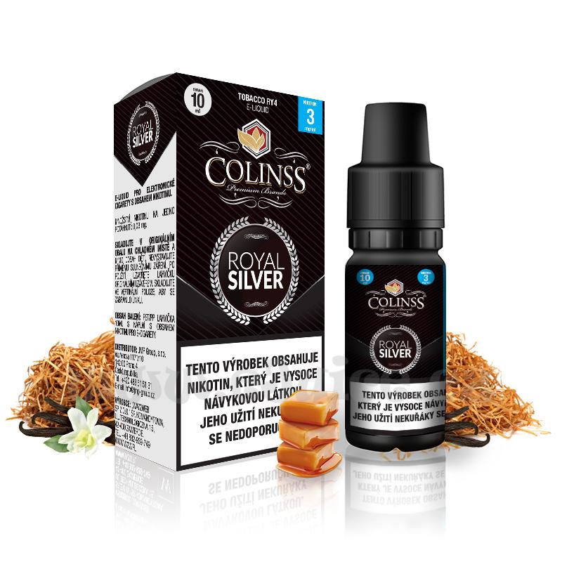 E-liquid Colinss 10ml / 12mg: Royal Silver (RY4 tabák)