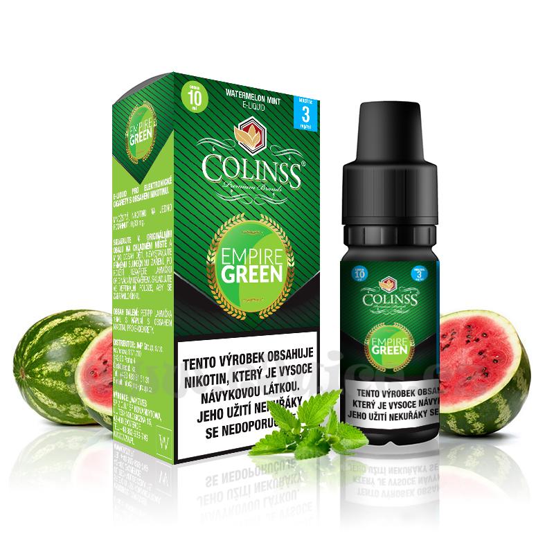 E-liquid Colinss 10ml / 12mg: Empire Green (Meloun s mátou)