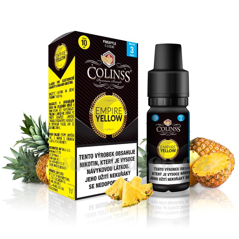 E-liquid Colinss 10ml / 12mg: Empire Yellow (Ananas)