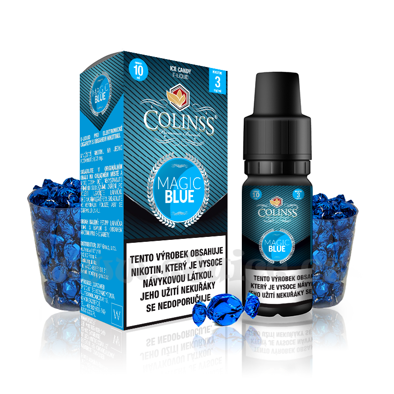 E-liquid Colinss 10ml / 12mg: Magic Blue (Ledové bonbony)