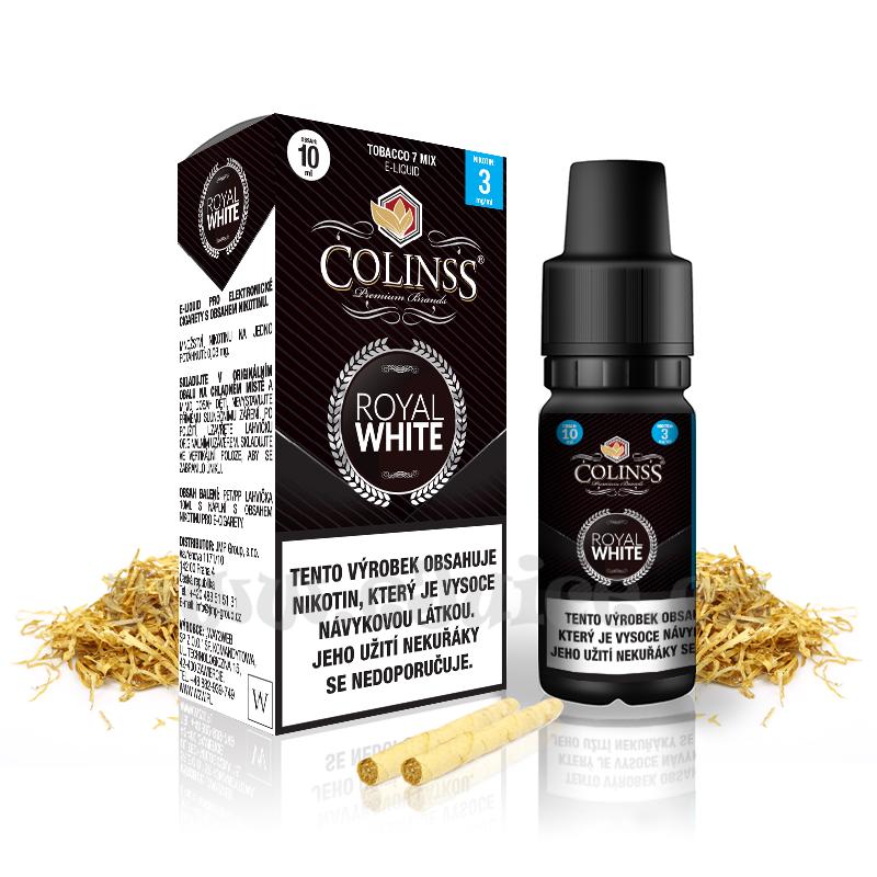 E-liquid Colinss 10ml / 18mg: Royal White (Cigaretový tabák)