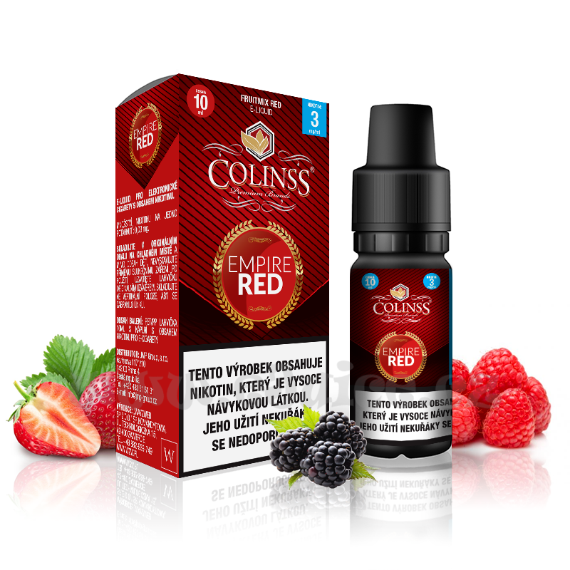 E-liquid Colinss 10ml / 18mg: Empire Red (Mix červených plodů)