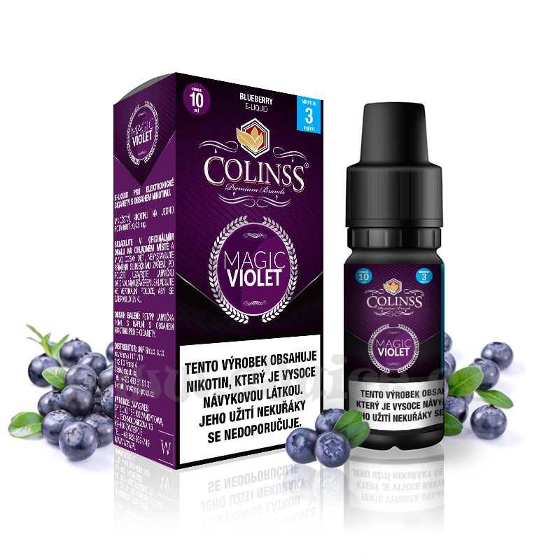 E-liquid Colinss 10ml / 18mg: Magic Violet (Borůvková směs)