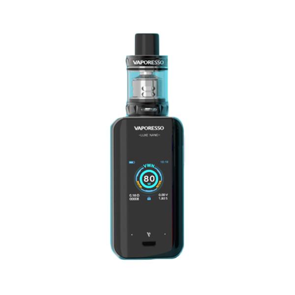 Elektronický grip: Vaporesso Luxe Nano Kit s SKRR-S Mini (2500mAh) (Černý)