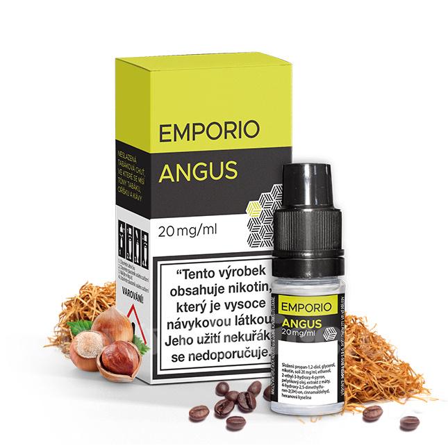 E-liquid Emporio Salt 10ml / 20mg: Angus (Tabák s oříškem a kávou)