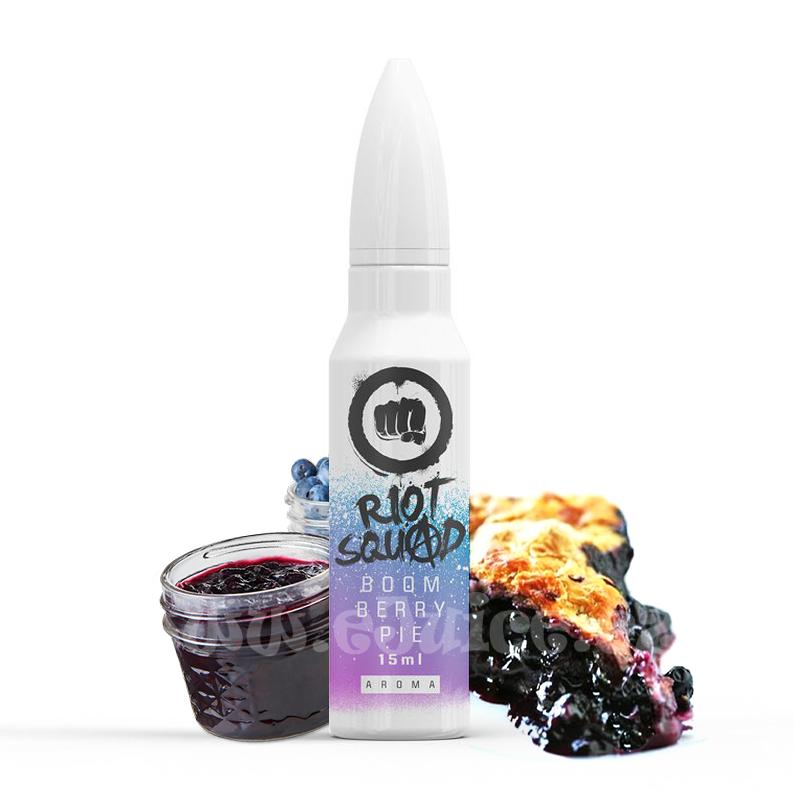 Příchuť Riot Squad Shake & Vape: Boom Berry Pie (Jemný koláč s borůvkovým džemem) 20ml