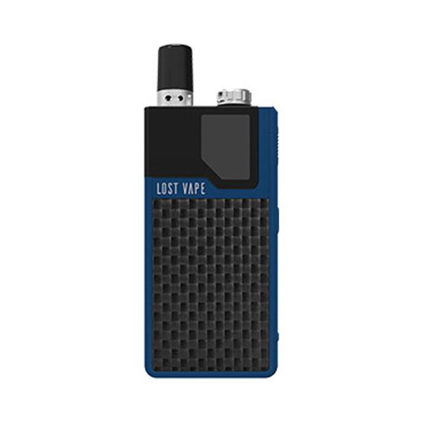 Elektronická cigareta: Lost Vape Orion DNA GO Pod Kit (950mAh) (Blue Textured Carbon Fiber)