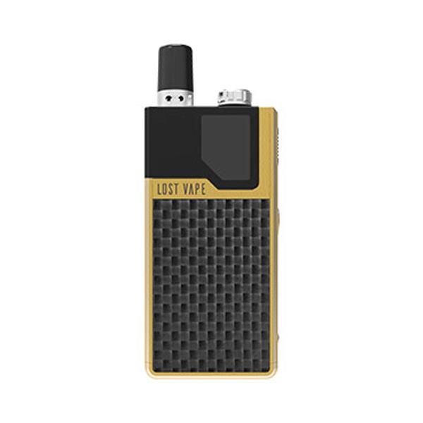 Elektronická cigareta: Lost Vape Orion DNA GO Pod Kit (950mAh) (Gold Textured Carbon Fiber)