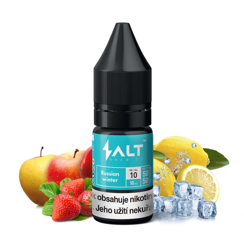 E-liquid Salt Brew Co 10ml / 10mg: Russian Winter (Ledové jablko, jahoda a citron)