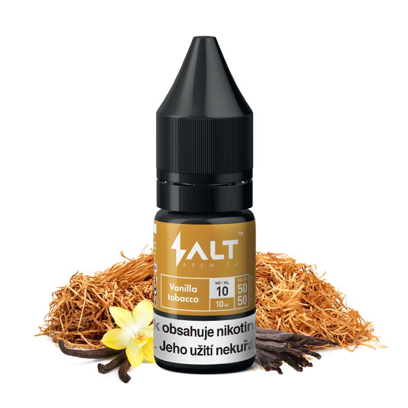 E-liquid Salt Brew Co 10ml / 10mg: Vanilla Tobacco (Tabák s vanilkou a karamelem)