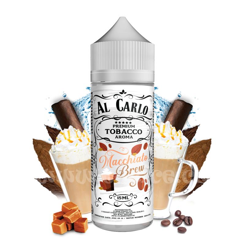Příchuť Al Carlo Shake & Vape: Macchiato Brew (Káva macchiato & tabák) 15ml