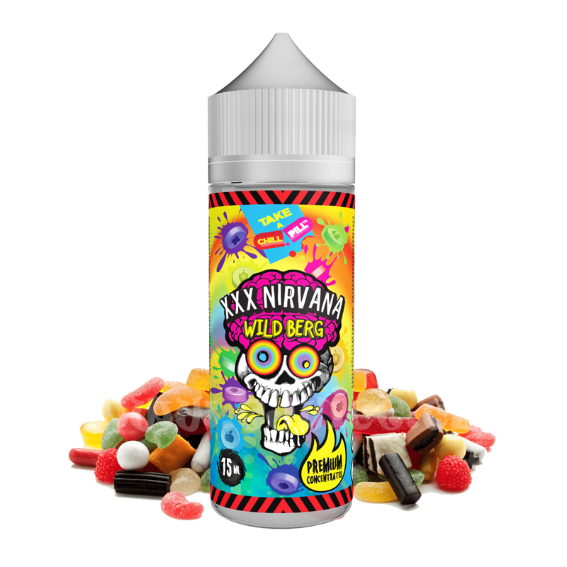 Příchuť Chill Pill Shake & Vape: XXX Nirvana (Sladké ovocné bonbony) 15ml