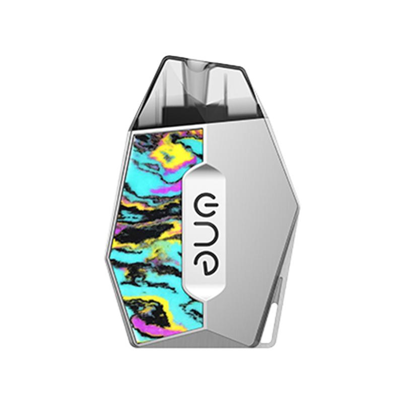 Elektronická cigareta: OneVape Lambo II Pod Kit (360mAh) (Silver Green Blue Resin)