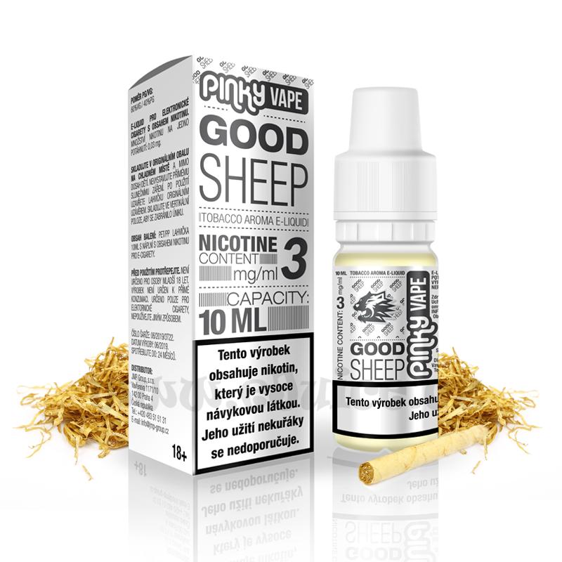 E-liquid Pinky Vape 10ml / 0mg: Good Sheep (Tabák prémium)