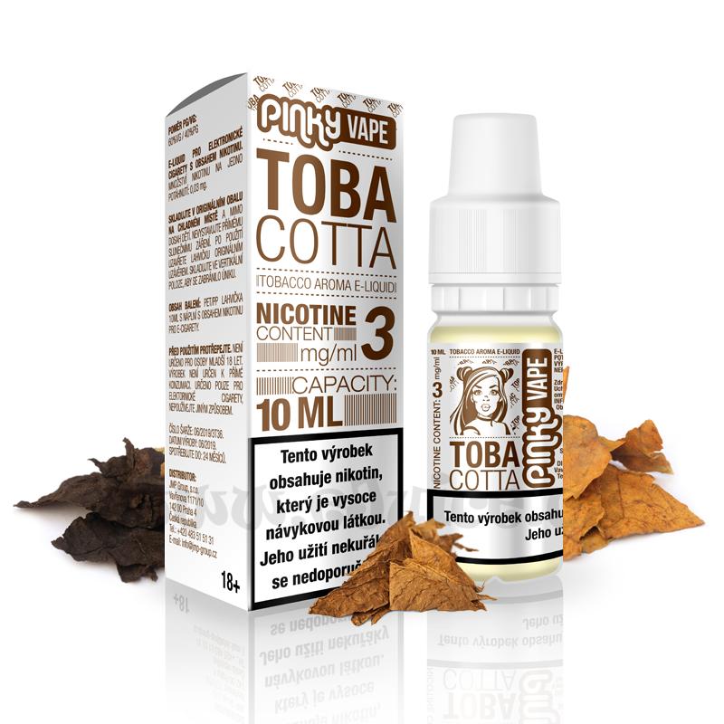 E-liquid Pinky Vape 10ml / 0mg: Tobacotta (Tabák)