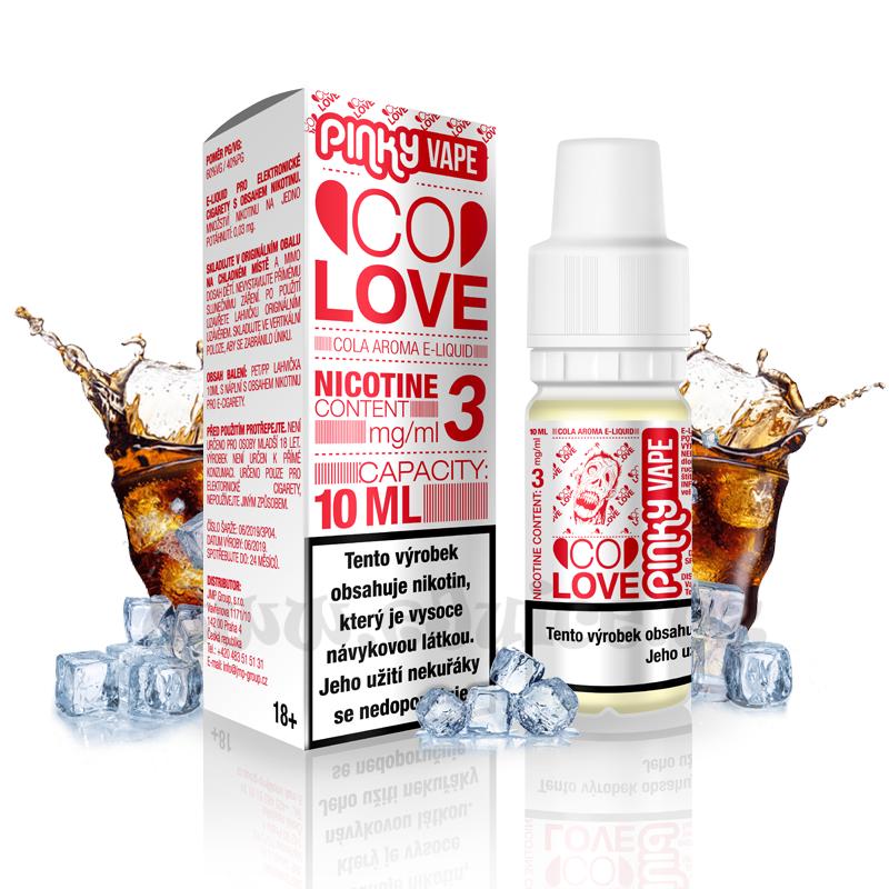 E-liquid Pinky Vape 10ml / 0mg: Co Love (Cola)