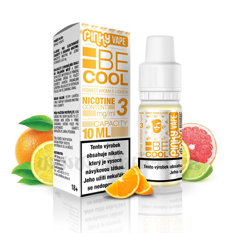 E-liquid Pinky Vape 10ml / 3mg: Be Cool (Citrus mix)