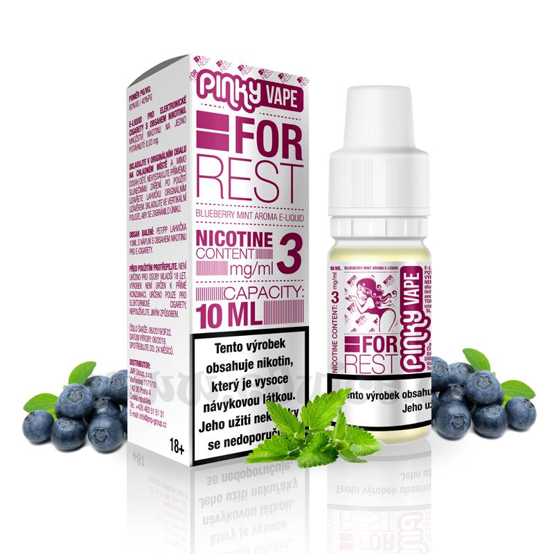E-liquid Pinky Vape 10ml / 3mg: For Rest (Borůvka & máta)