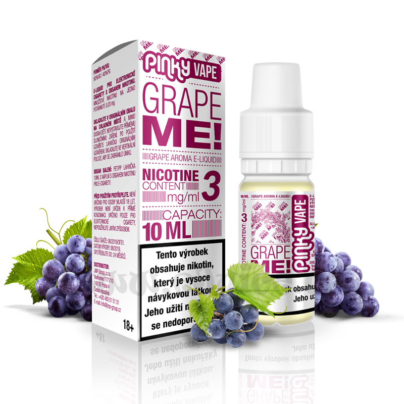 E-liquid Pinky Vape 10ml / 3mg: Grape Me! (Hroznové víno)