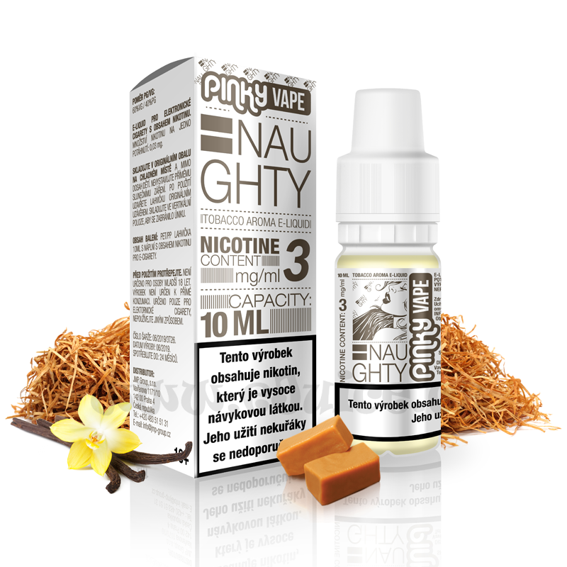 E-liquid Pinky Vape 10ml / 3mg: Naughty (RY4 tabák)