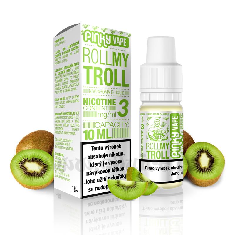 E-liquid Pinky Vape 10ml / 3mg: Roll My Troll (Kiwi mix)