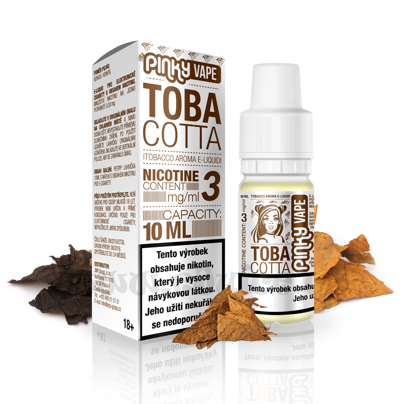 E-liquid Pinky Vape 10ml / 3mg: Tobacotta (Tabák)