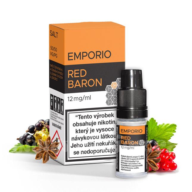E-liquid Emporio Salt 10ml / 12mg: Red Baron (Rybíz, lesní plody a lékořice)