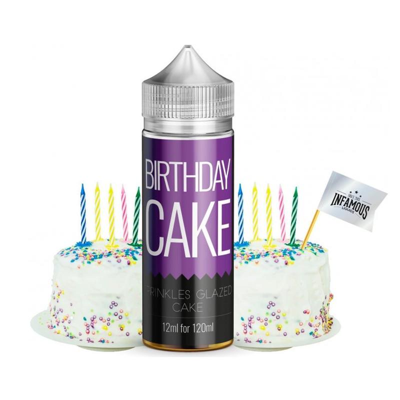 Příchuť Infamous Originals S&V: Birthday Cake (Sladký narozeninový dort) 12ml