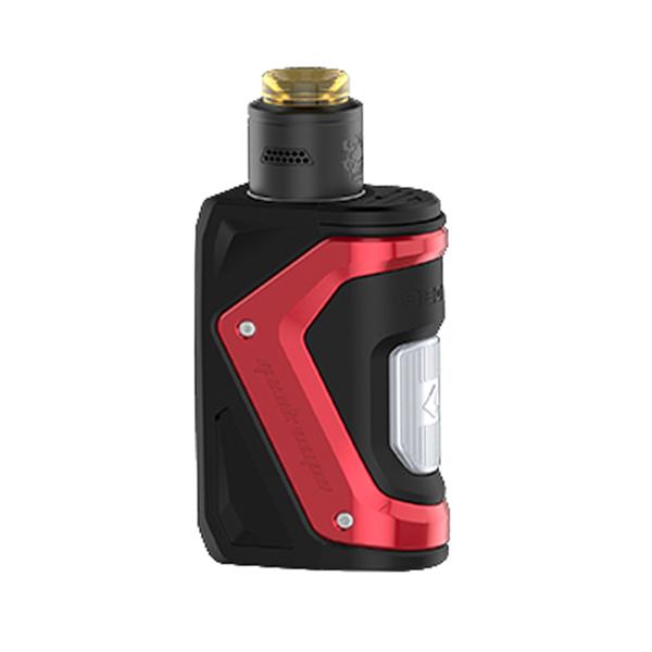 Elektronický grip: GeekVape Aegis Squonker Kit s Tengu RDA (Červený)
