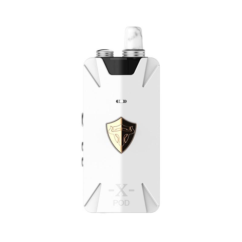 Elektronická cigareta: THC Tauren X Pod Kit (1000mAh) (Bílá)