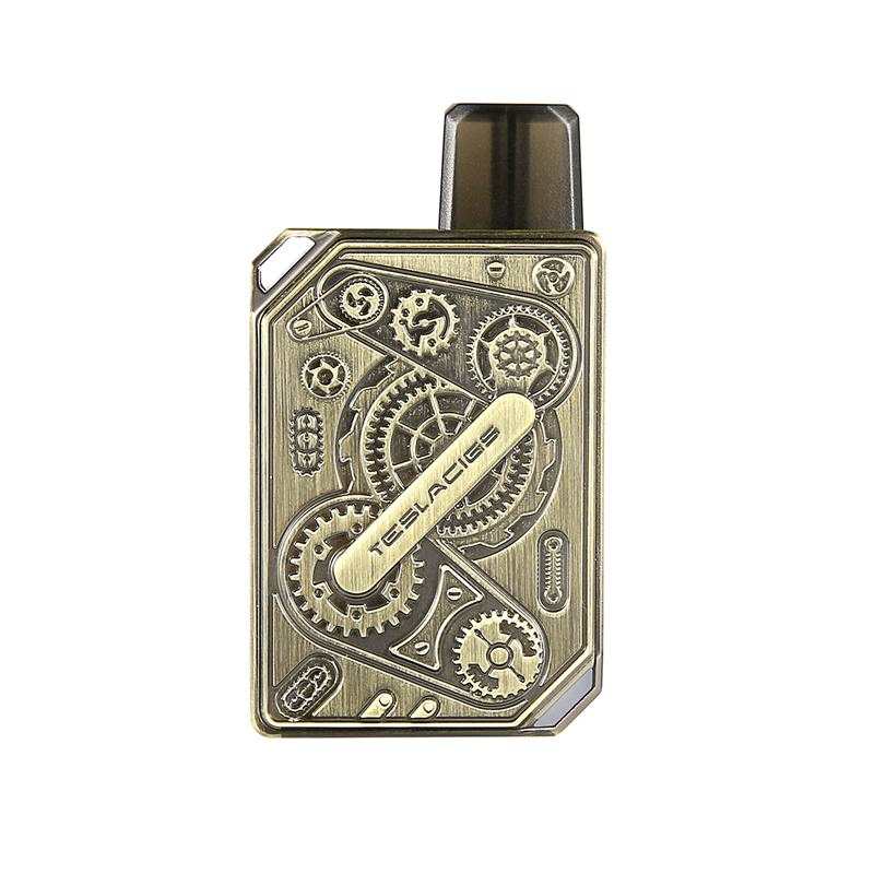 Elektronická cigareta: Tesla Punk Pod Kit (600mAh) (Antique Brass)