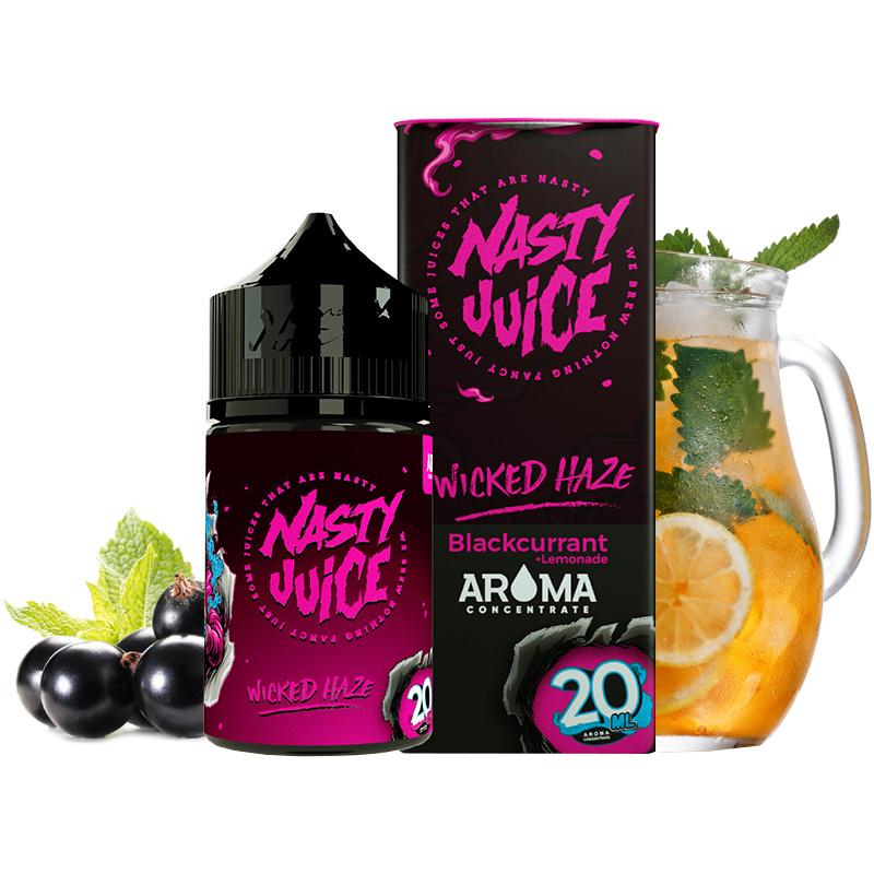 Příchuť Nasty Juice S&V: Wicked Haze (Ledová citronáda s rybízem) 20ml