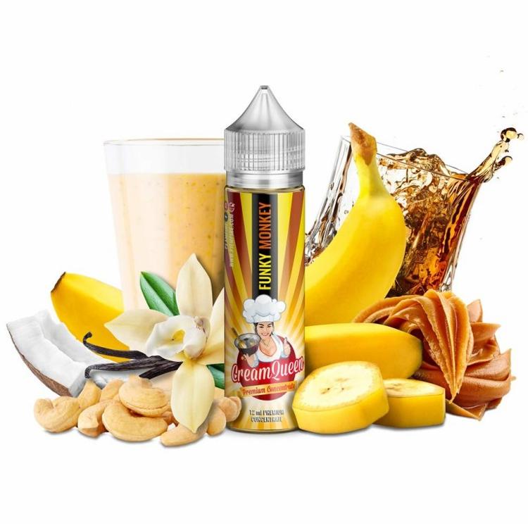 Příchuť PJ Empire Cream Queen S&V: Funky Monkey (Banánový milkshake s kešu ořechy) 12ml