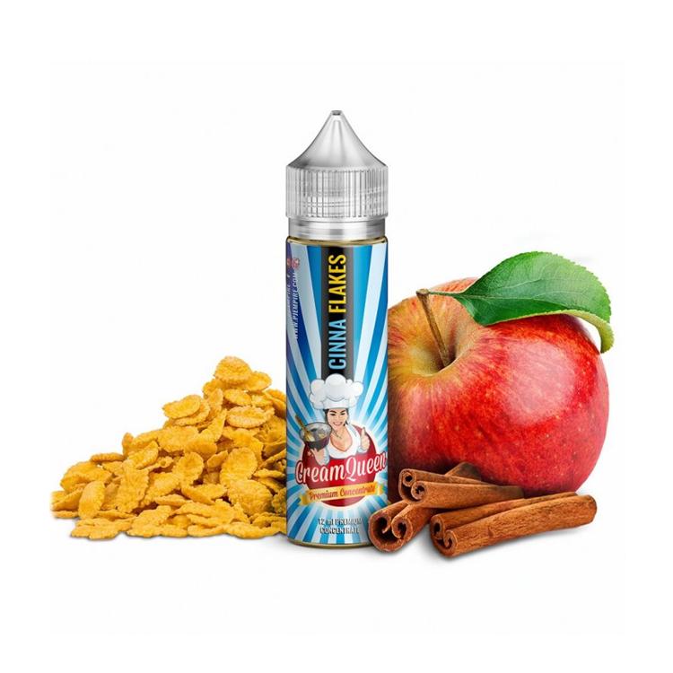 Příchuť PJ Empire Cream Queen S&V: Cinna Flakes (Cereálie se skořicí a jablkem) 12ml
