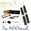 [!Doprodej] - Elektronická cigareta: Riva-T (2x 650mAh) (Černá)