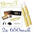 [!Doprodej] - Elektronická cigareta: Riva-T (2x 650mAh) (Zlatá)