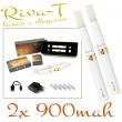 [!Doprodej] - Elektronická cigareta: Riva-T (2x 900mAh) (Bílá)