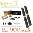 [!Doprodej] - Elektronická cigareta: Riva-T (2x 900mAh) (Černá)