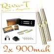 [!Doprodej] - Elektronická cigareta: Riva-T (2x 900mAh) (Chromov