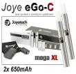Joyetech eGo-C 650mAh stříbrná, 2ks