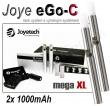 Elektronická cigareta: Joyetech eGo-C - MEGA XL (2x 1000mAh) (St