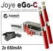 Elektronická cigareta JoyeTech eGo C, 2ks v balení, červená