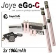 Elektronická cigareta: Joyetech eGo-C (2x 1000mAh) (Růžová)