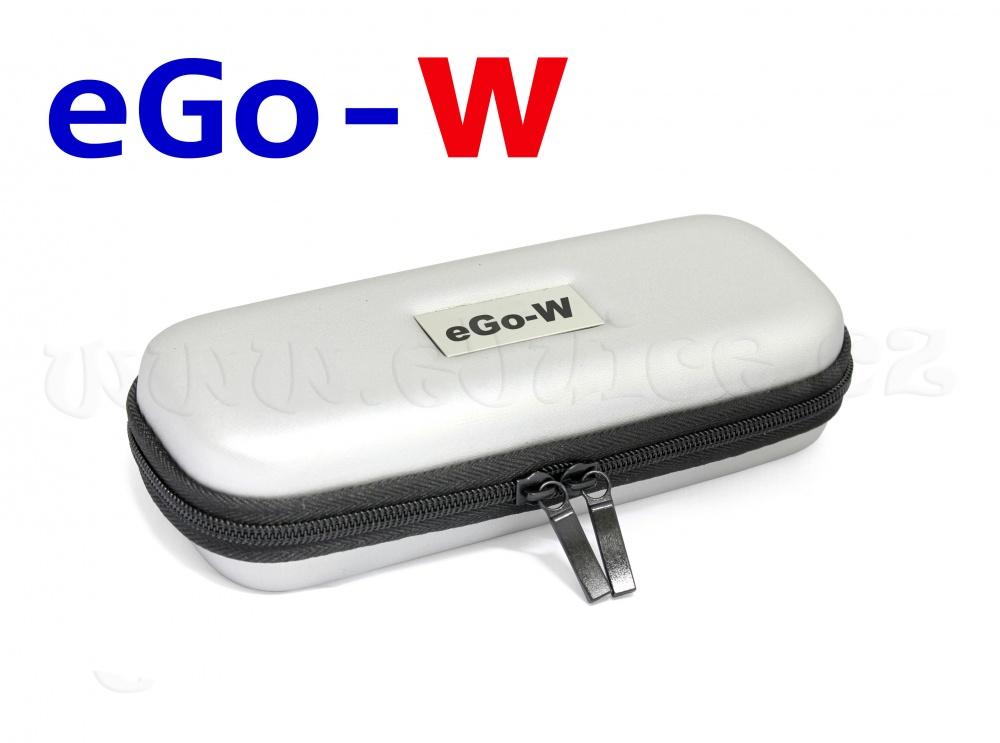 [!Doprodej] - Pouzdro pro elektronickou cigaretu (logo eGo-W) (Stříbrné)