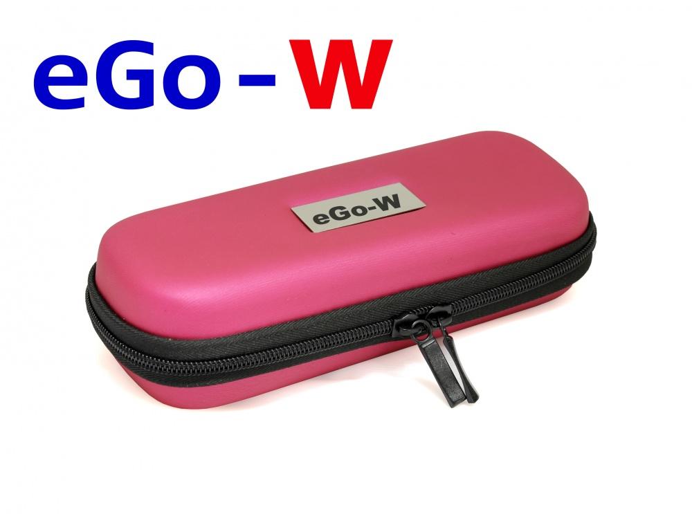 [!Doprodej] - Pouzdro pro elektronickou cigaretu (logo eGo-W) (Tmavě růžové)