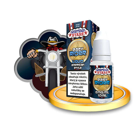 E-liquid American Stars 10ml / 6mg: Easy Rider