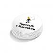 Samolepka Vapetalk s Karotkou - kruh 3,5cm (Bílá)