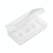 Plastové ochranné pouzdro pro baterie 2x18650 (Průhledné)